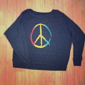 Vintage Peace Sweater One Size Fits All